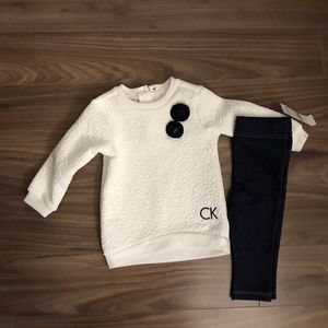Calvin Klein Black/White Sweater Set, SZ 6-9mo